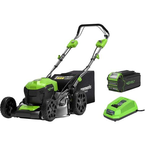 Towed lawnmower GREENWORKS 40V - 46cm cut - 1 battery 4,0Ah - 1 charger - GD40LM46SPK4x