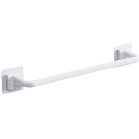 Towel Bar Bath Towel Clothes Hanger Nail-free Wall Mount Towel Rack Holder White , Long