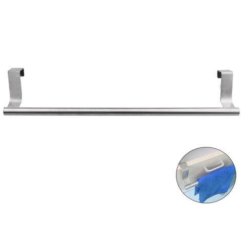 "main image of ""Towel Hanger Over Cabinet Cupboard Doors Towel Bar Bath Towel Clothes Hanger Towel Rack Holder for Bathroom Kitchen Towel Storage Shelf"""