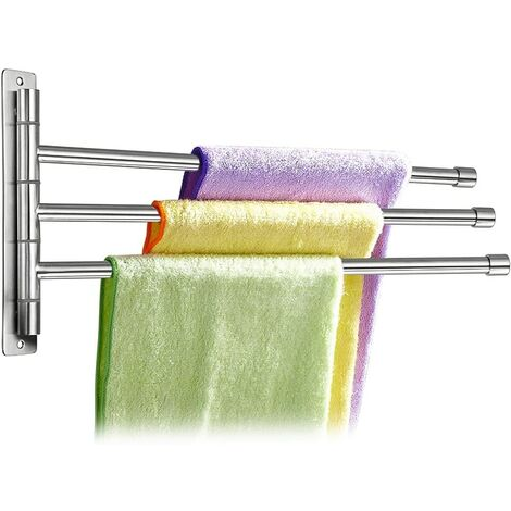 Towel Holder / Bars 3 Branches, Length 35CM, in stainless steel Frosting (3 Branches)