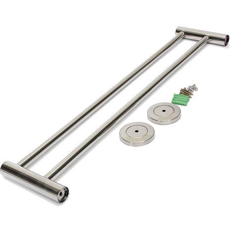 Towel Holder Hook Wall Shelf Support Stainless Steel Bar For Bathroom