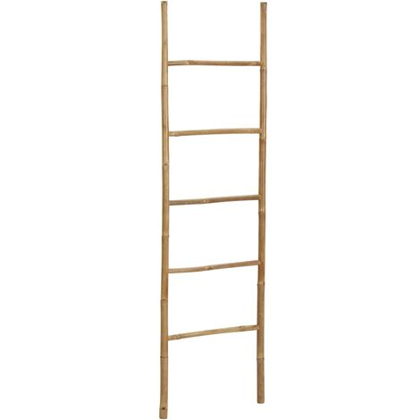 Towel Ladder with 5 Rungs 170 cm Bamboo