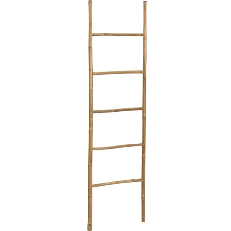 Towel Ladder with 5 Rungs 170 cm Bamboo - Brown