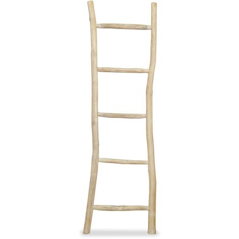 Towel Ladder with 5 Rungs Teak 45x150 cm Natural