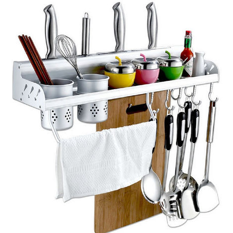 Towel Rack Shelf Shelf Wall Hook Strong Hook Bathroom Kitchen 40Cm Hasaki