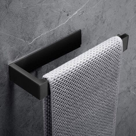 """main image of """"Towel ring Towel holder, 304 Stainless steel towel holder Toilet accessories Bathrooms (without drilling, black)"""""""