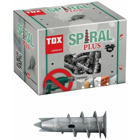 TOX cheville pour plaques de plâtre Spiral Plus 37 - 50 pièces