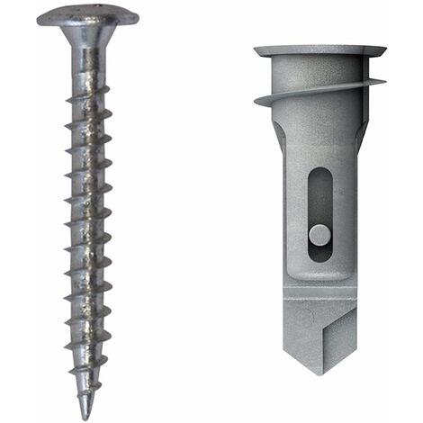 TOX Cheville pour plaques de plâtre Spiral Pro 39-3 + vis, 50 pièces - 68101031
