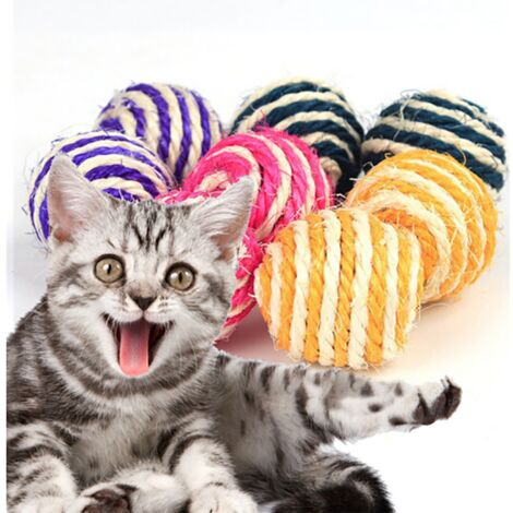 Toy for Cat Sisal Ball Toy Funny Cat Toy Pet Toy Cat Cat Toy Cat Toy Favorite Grinding Claw Toy 6.5 cm Diameter Random Color