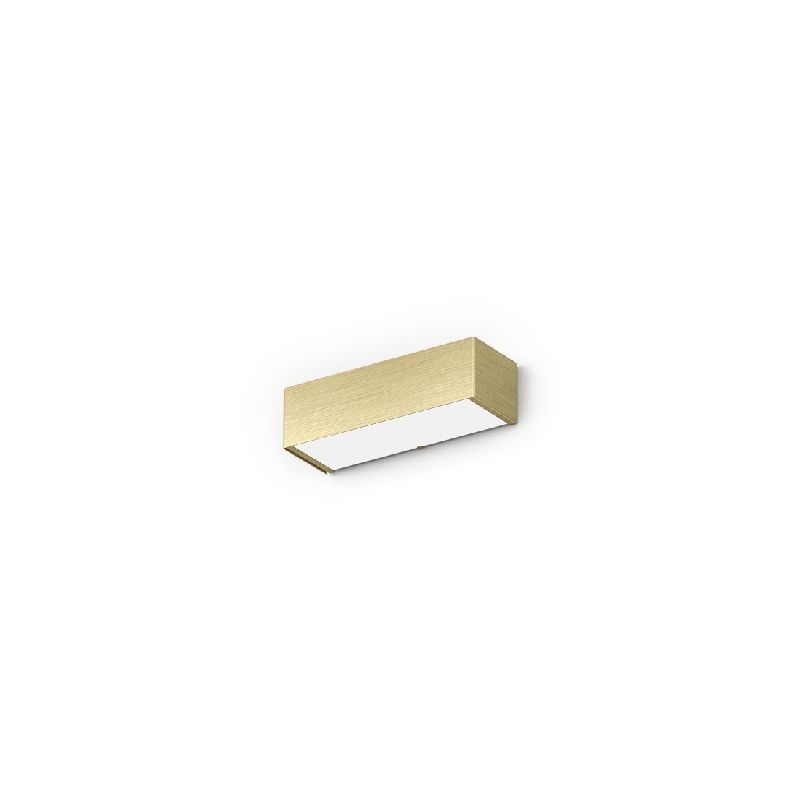 Homemania - Toy Wandleuchte - Wandleuchte - Rechteckig - Beige aus Metall, Glas, 25 x 8,5 x 7 cm, 1 x LED, 13W, 937lm, 3000K, 220-240V