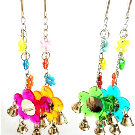 Toys Chew Bell Swing Bird Parrot Animal Hasaki