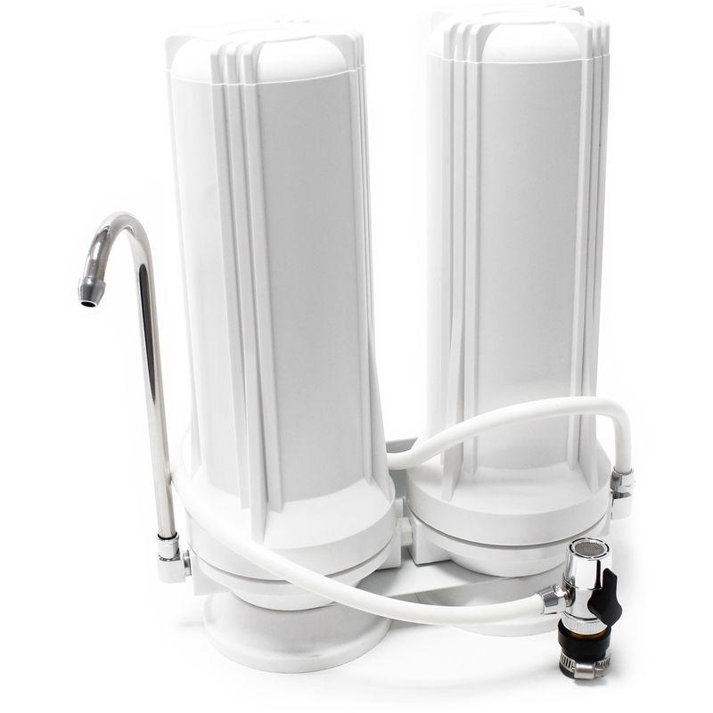 TR202 Filtro acqua da banco a 2 stadi 5µ Cartuccia filtro WILTEC
