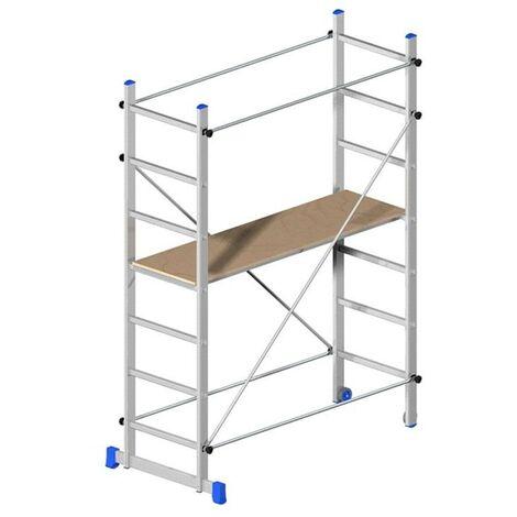 20783 Superminio Trabattello Alluminio Ponteggio Marchetti Mobile Ruote 150 Kg