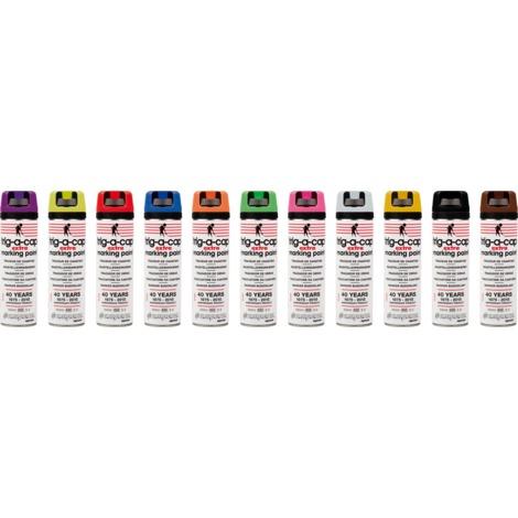 Tracciatore da cantiere - TRIG A CAP EXTRA - Pack 12 aerosol da 650 ml