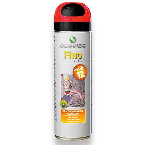 Traceur de chantier fluorescent FLUO TP 500 ml de couleur Rouge - 141513O -  Soppec - Rouge -
