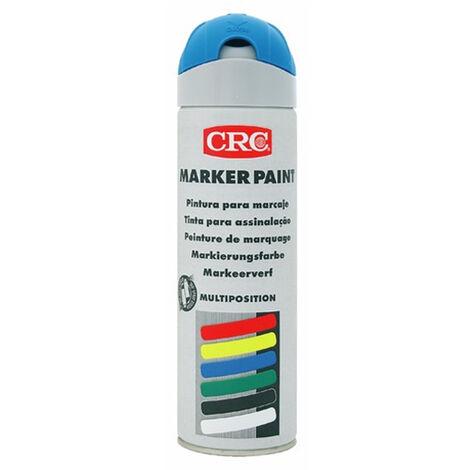 Traceur de chantier Marker paint Bleu fluo aérosol 650ml CRC Industrie