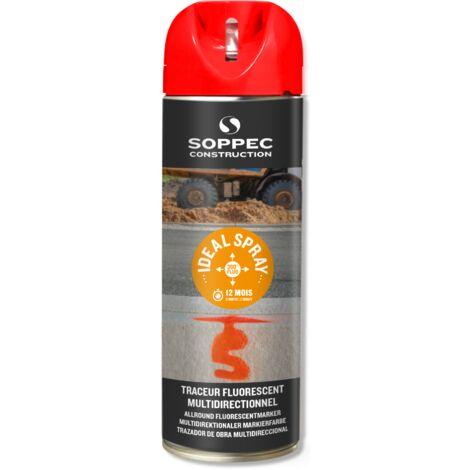 Traceur de chantier rouge fluo multidirectionnel ideal spray soppec 9-12 mois - 141813o - - - Blanc