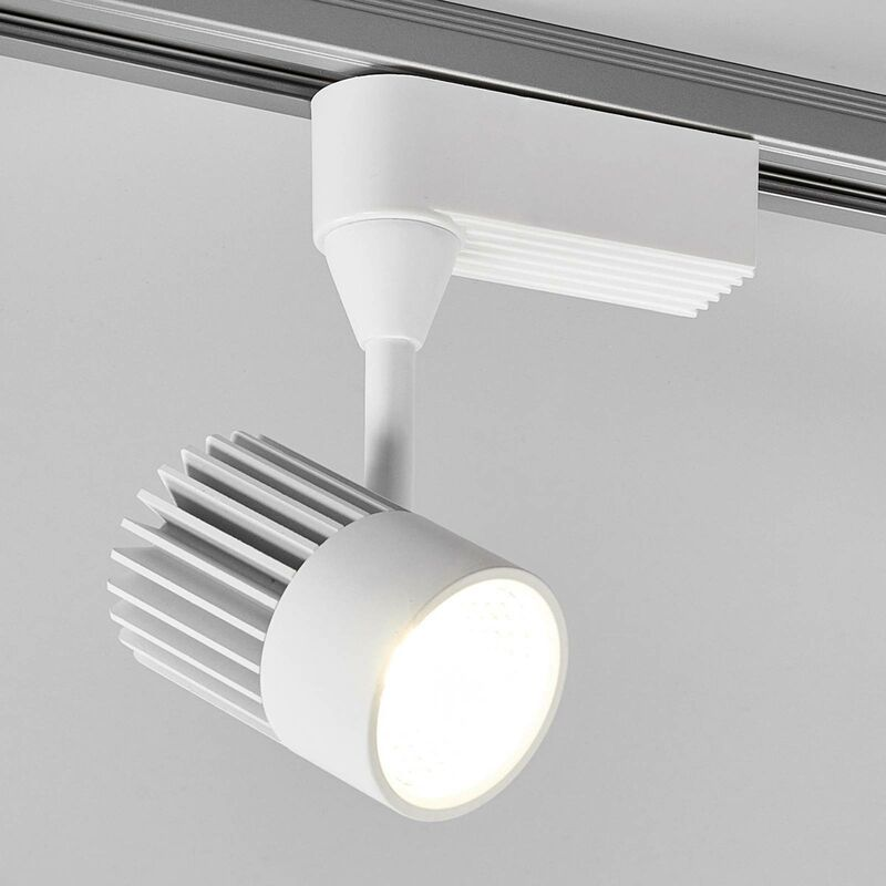 Track Lighting 1 Phase Maksim Modern In White Made Of Aluminium Light Source A From Lampenwelt