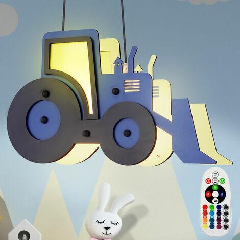 Tracteur à lampe suspendue LED RGB, bleu noir, 120 cm, TOOLIES
