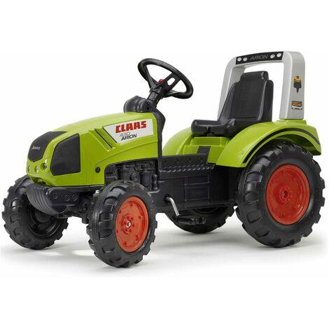 Tracteur Claas à pédales Benny modèle Arion 430 avec arceau et volant directionnel 100% Made in France