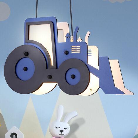 Tracteur lampe suspendue LED, bleu noir, 120 cm, TOOLIES