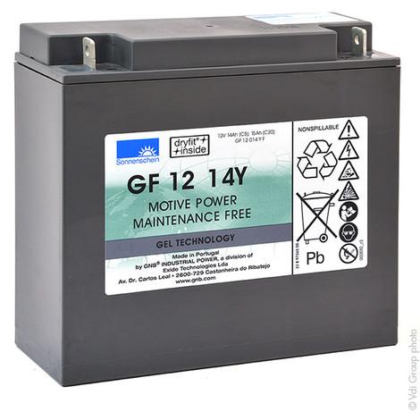 Traction battery SONNENSCHEIN GF-Y GF12014YF 12V 14Ah M5-M