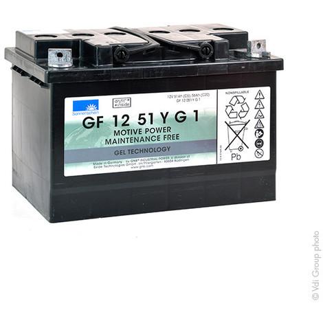 Traction battery SONNENSCHEIN GF-Y GF12051YG1 12V 51Ah M6-M