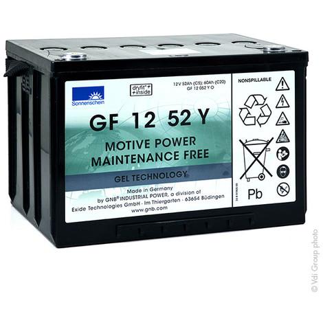 Traction battery SONNENSCHEIN GF-Y GF12052Y0 12V 52Ah M6-F