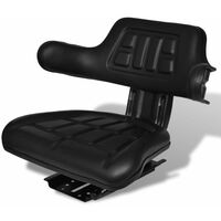 Tractor Seat with Backrest Black