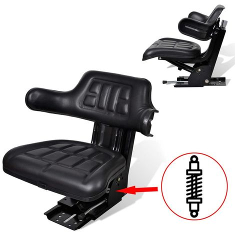 Tractor Seat with Suspension Black