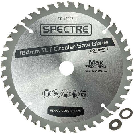 Trade Pro Circular Saw Blade 184 X 20 40 Teeth -Fits Dewalt DCS570 DCS571 DWE560