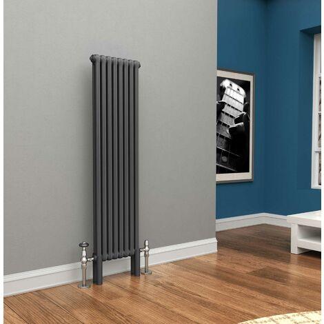 TradeRad Premium Anthracite Vertical 2 Column Radiator 1500mm x 294mm