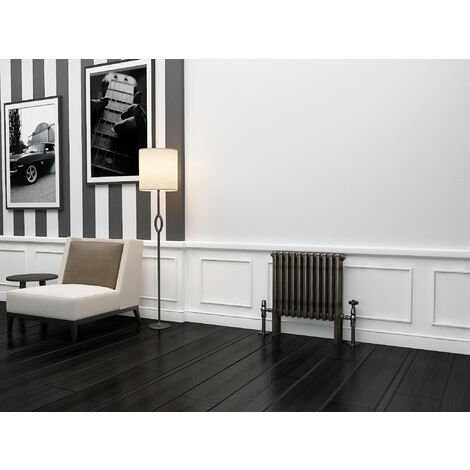TradeRad Premium Raw Metal Lacquer Horizontal 3 Column Radiator 500mm x 429mm
