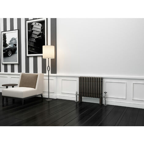 TradeRad Premium Raw Metal Lacquer Horizontal 4 Column Radiator 500mm x 609mm