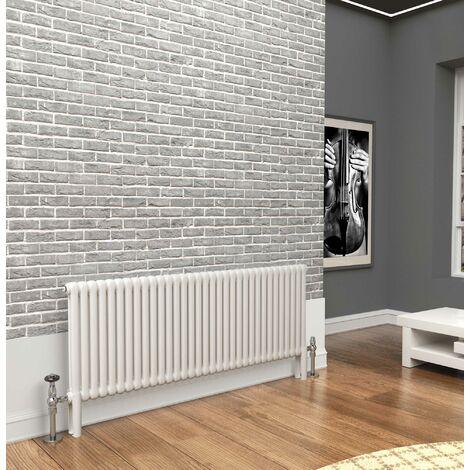 TradeRad Premium White 2 Column Horizontal Radiator 600mm x 1509mm