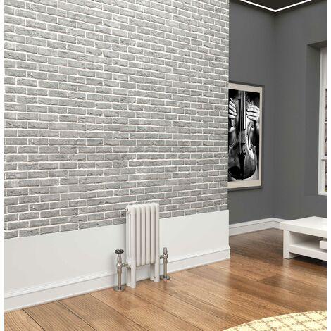 TradeRad Premium White 3 Column Horizontal Radiator 500mm x 204mm