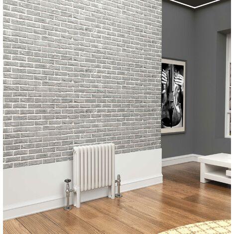 TradeRad Premium White 3 Column Horizontal Radiator 500mm x 564mm