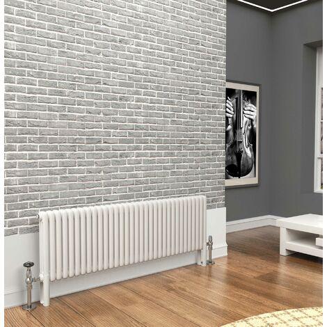 TradeRad Premium White 3 Column Horizontal Radiator 600mm x 1509mm