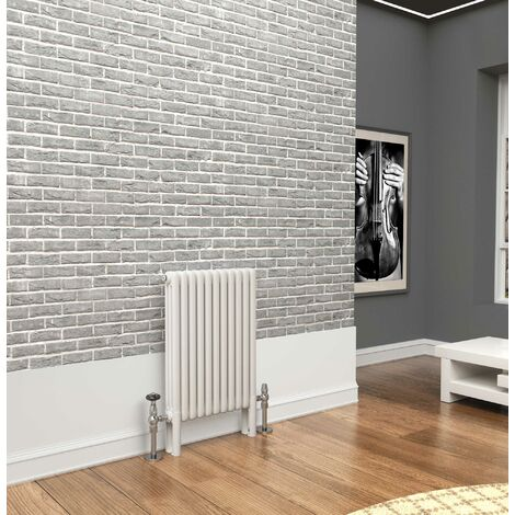 TradeRad Premium White 3 Column Horizontal Radiator 750mm x 519mm