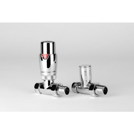 TradeRad Straight Thermostatic with Round Top Body Chrome
