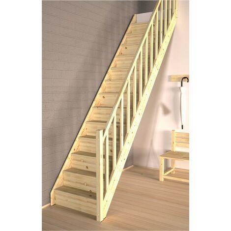 Tradi Eco Complet escalier en bois de pin