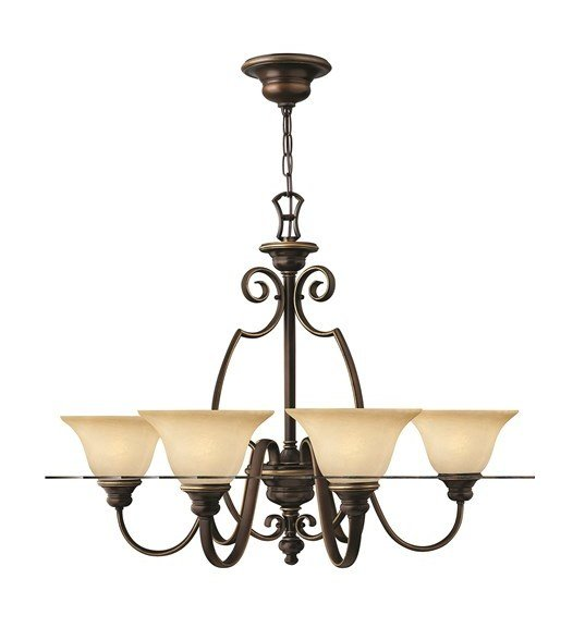 Traditional 6 Arm Chandelier With Cello Shaped Scrolls By Washington Lighting
