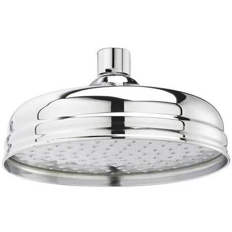 """Traditional 8"""" 200mm Fixed Round Drench Apron Shower Head Rainshower - Chrome"""