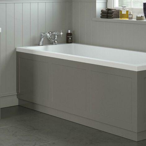 Traditional Bathroom 1700mm Front Bath Panel 18mm MDF Wood Grey Plinth Easy Cut