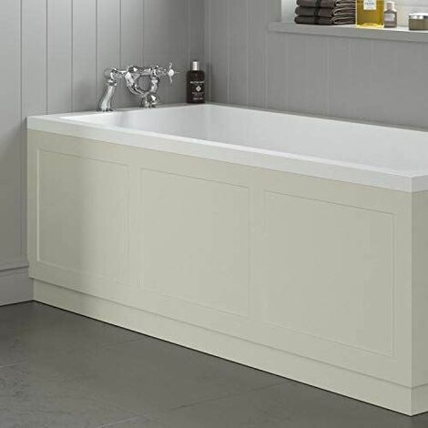 Traditional Bathroom 1700mm Front Bath Panel 18mm MDF Wood Ivory Plinth Easy Cut