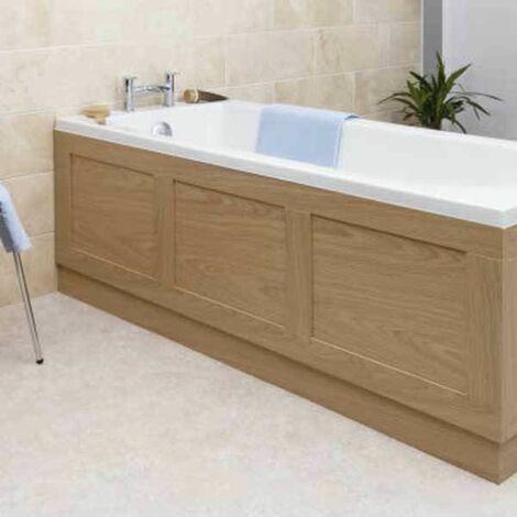 Traditional Bathroom 1700mm Side Bath Panel 15mm Wooden Oak MDF Wood Easy to Cut