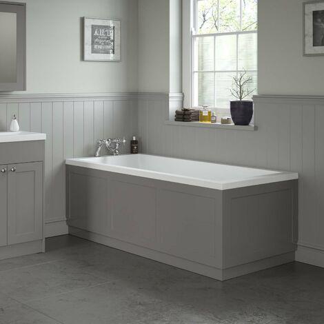 Traditional Bathroom 1800 Front & 750 End Bath Panel Pack 18mm MDF Grey Plinth