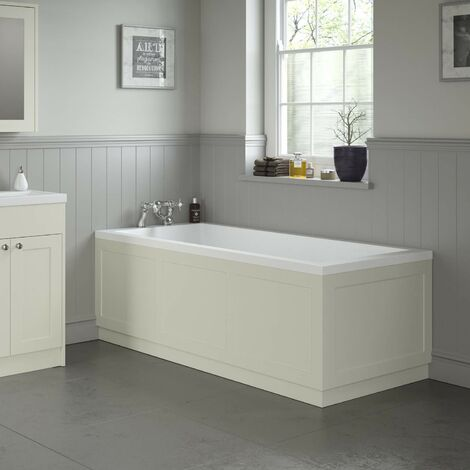 Traditional Bathroom 1800 Front & 750 End Bath Panel Pack 18mm MDF Ivory Plinth