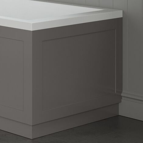 Traditional Bathroom 700mm End Bath Panel 18mm MDF Wood Grey Plinth Easy Cut