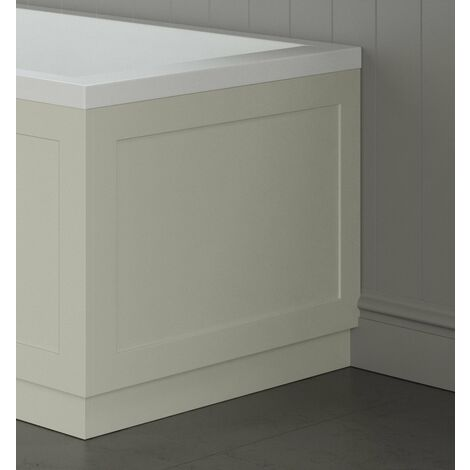 Traditional Bathroom 750mm End Bath Panel 18mm MDF Wood Ivory Plinth Easy Cut